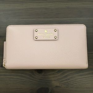 Kate Spade Wellesley Neda Pink Zip Wallet/Clutch